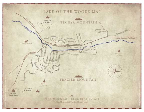 Lake of the Woods Map