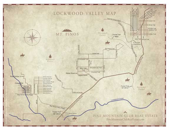 Map of Lockwood Valley